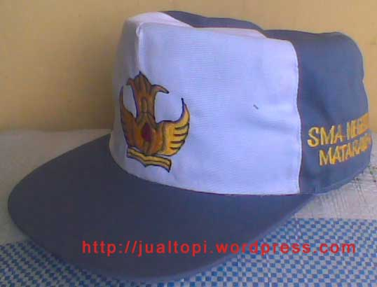 Topi SMA/SMK putih abu-abu
